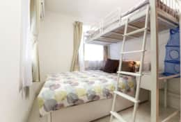 Bedroom 2 - double bed and loft bed |Submarine House| Tokyo Family Stays |Spacious |