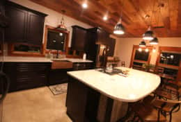 Stylish granite countertops in the kitchen