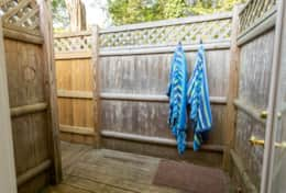 Large outdoor shower
