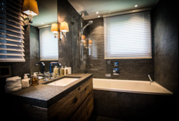 Chalet Strahlhorn Ultimate Saas-Fee Luxury Catered Chalet Master En-Suite Bathroom