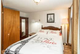 Another comfortable sleep in one of the five bedrooms