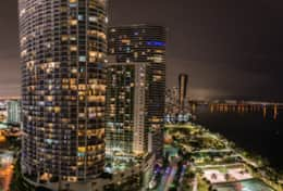 Views from balcony of Biscayne Bay and Margaret Pace Park