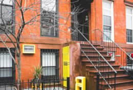 Yellow Block BnB exterior. Typical Brooklyn Brownstone