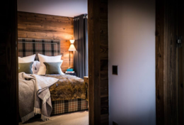 Chalet Strahlhorn Ultimate Saas-Fee Luxury Catered Chalet Master Bedroom Look Through
