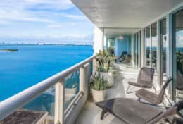 Furnished balcony with views Biscayne Park, Margaret Pace Park, Heart Island