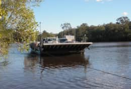 Noosa River car ferry.  $8  each way runs 5:30 am to 10:20 pm or 12:20 am Fri & Sat