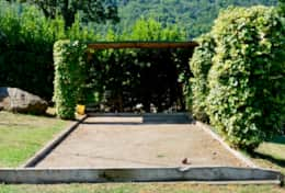 San Martino private villa, bocce court