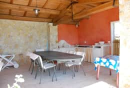 Outside kitchen near the pool