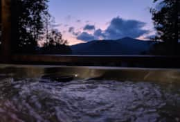 Waynesville Smokies Overlook Lodge Cabin - New Hot Tub Sunset