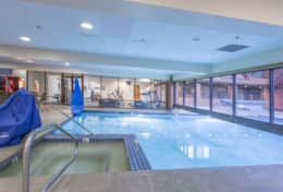 Large indoor/outdoor pool, 3 hot tubs