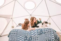 Dome 1 interior - photo by Joanna Asheville Glamping