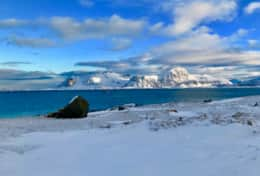 Lofoten view Havern mountain