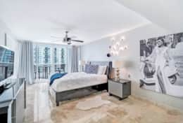 Gorgeous master bedroom, private balcony with seating for two, Roku streaming tv, queen bed