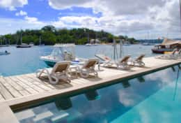 Onyx Harbour Luxury Resort Residences overlooking Port Vila Harbour with 14 meter sparkling pool