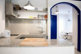 Kitchen and dining room apartment Velero Sitges