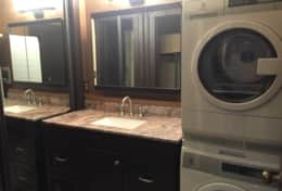 New Vanity with HE washer and dryer
