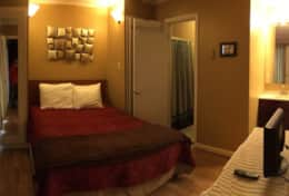 Master Bed wide angle