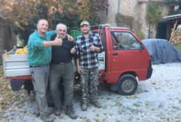 Olive harvest with 'the guys'