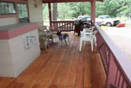 cabin 15 covered porch with gas grill
