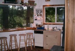 Tree House Kitchen Counter with Stools