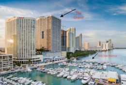 The Grand downtown Miami on Biscayne Bay and Sea Isle Marina