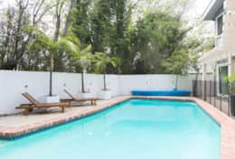 Garden: Hot tub, barbeque, outdoor heated pool