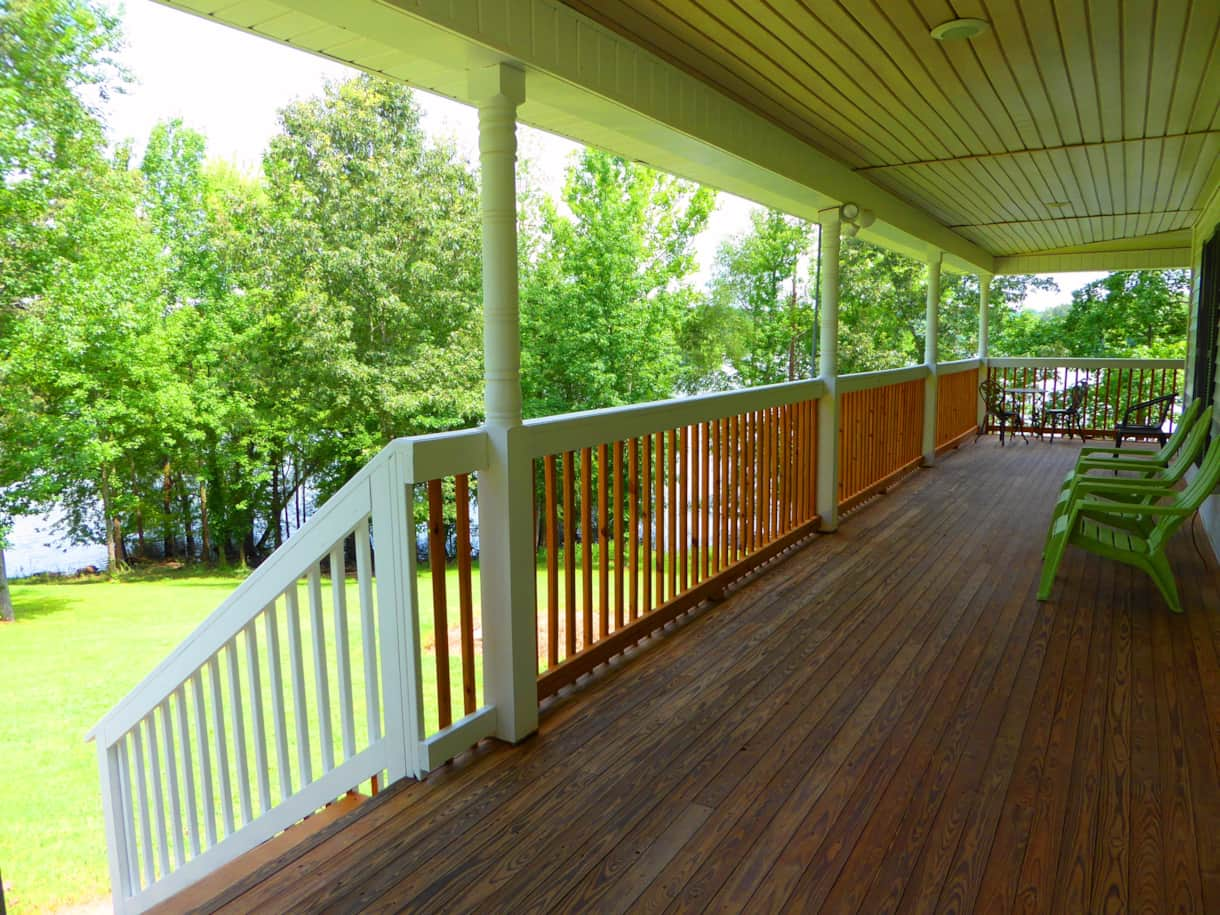 Huge covered wrap-around deck