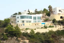 Villa Priscilla from the beach