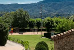 Views of the children's park of Santa Maria de Besora