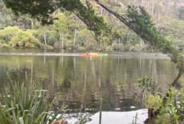 Kayaking the huon river