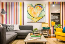 A bright, colorful space to relax after a day in NYC