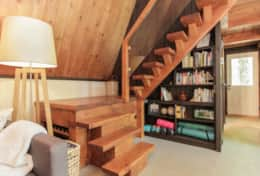 Stairs - The 2 bedrooms and 1/2 bathroom are located upstairs.  Feel free to use yoga mats or grab a
