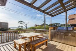 The front deck with ocean views