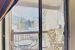 Inviting Views of Park City ski resort from living room