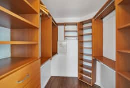 2nd master bedroom walk in closet with safe