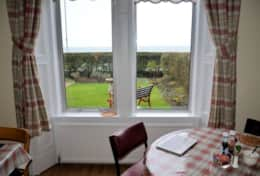 Have your full Scottish breakfast whilst overlooking the sea.