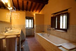 The Yellow Master Bathroom
