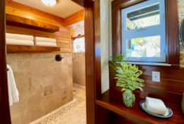 Upper level shower @ Bedroom #1