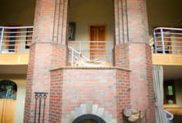 Russian Fireplace & Gothic Arch in the Chimney