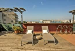 Terrace with sea views Los Condes Apartment