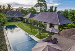 78. Villa Lumia Bali Overview in the Morning