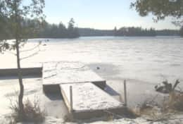Dock in the winter