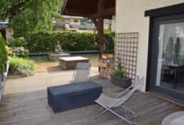 Outdoor terrace and Zen graden at Le 1818 Brides-les-Bains