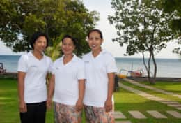Our cook and housemaids at Villa Wilali
