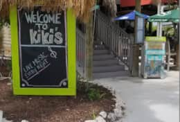 Kiki's Sandbar Grille, two minute walking distance from Barry Cove & Harbor.