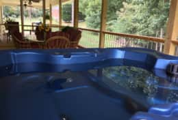 5 Person Hot Tub on Screened Porch