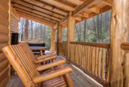 Hideaway at High Rock Cabin Deck