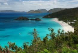 View of Trunk Bay.
