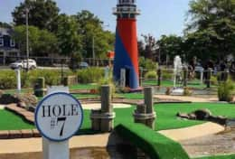 Mini golf is located a short walk across the street from the property