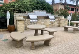 Both Charcoal and Gas Grills with Picnic Tables